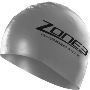Zone3 Silicone Swim Cap - Silver