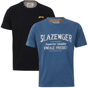 Slazenger Men's 2-Pack T-Shirts - Airforce/Navy