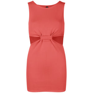 Influence Women's Cut Out Twisted Front Dress - Coral