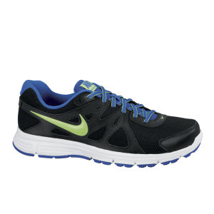 Nike Men's Revolution 2 Running Shoes - Black/White/Green