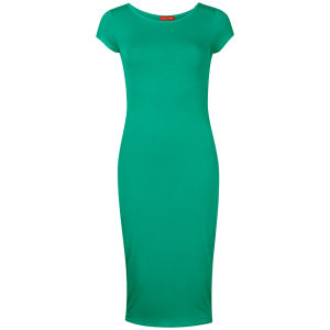 Influence Women's Midi Jersey Dress - Green