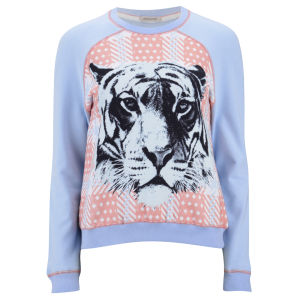 Emma Cook Women's Tiger Sweatshirt - Blue