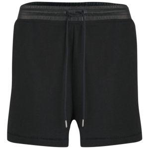 T by Alexander Wang Women's Leather Waistband Sweat Shorts - Black