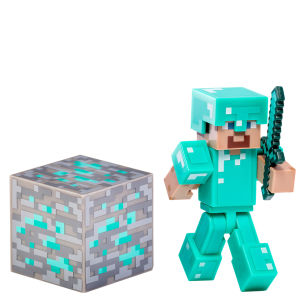 Minecraft - Diamond Steve Figur