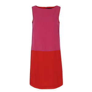 Great Plains Women's J1CC9 Milkwood Block Contrast Dress - Dolly Pink & Balloon Red