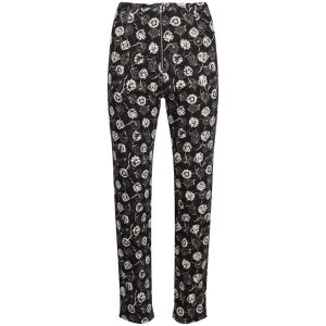 Wood Wood Women's Kim Pants - Flower Gull Grey Print