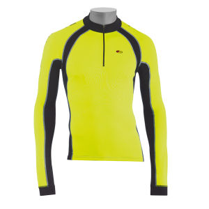 Northwave Force Long Sleeve Jersey - Fluorescent Yellow