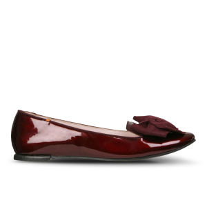 Just Ballerinas Women's Bow Front Slippers - Bordo