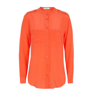 Equipment Women's Q23E375 Carmen Shirt - Orange Juice