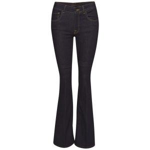 Victoria Beckham Women's High Rise Flare Woven Jeans - Rich Blue