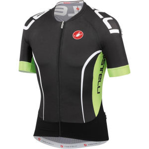 Castelli Aero Race 5.0 Jersey - Black/Lime/White