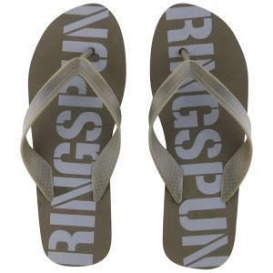 Ringspun Men's Glen Flip Flops - Khaki