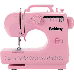 Beldray 12 Stitch Sewing Machine Bundle - Pink