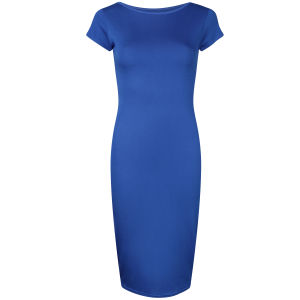 Influence Women's Midi Jersey Dress - Cobalt Blue