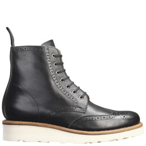 Grenson Women's Emma V Brogue Boots - Black