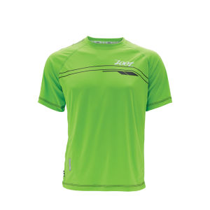 Zoot Men's Ultra Run Icefil Tee - Green Flash/Black