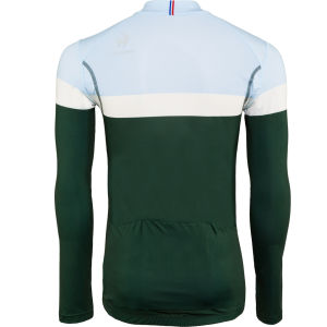 Le Coq Sportif Men's Cycling Performance Long Sleeve New Erco Jersey - Pineneedle
