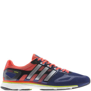 Adidas Men's Adizero Adios Boost Running Shoe - Hero Ink/Metallic Silver/Infrared