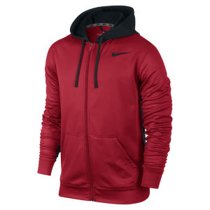 Nike Men's KO FZ Texture GFX Hoodie - Gym Red