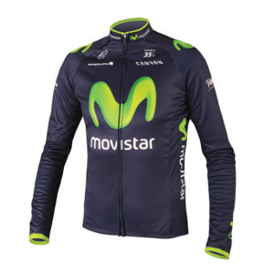 Movistar Team Replica Long Sleeved Jersey - Blue 2014