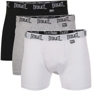 Everlast Men's 3-Pack Boxers - Black/Grey/White