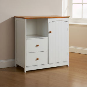 Winslow Kitchen 2 Drawer Cupboard - White Pine