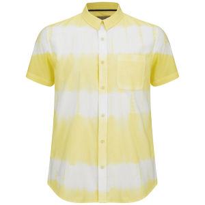 Brave Soul Herren 3 Stripe Tie Dye Hemd - Hellgelb