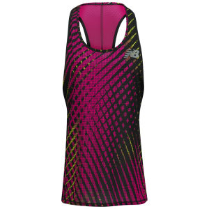 New Balance Women's Running Excel Race Singlet - Poisonberry/Black