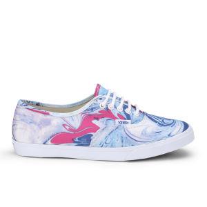 Vans Women's Authentic Lo Pro Marble Trainers - Blue/True White