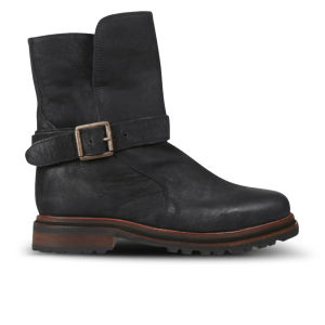 H by Hudson Women's Tatham Calf Leather Buckle Boots - Black
