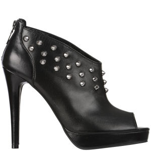 Love Moschino Women's Studded Heeled Ankle Boots - Black