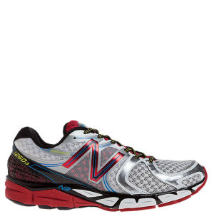 New Balance Men's M1260WR3 Stability Running Shoes - Silver/Red