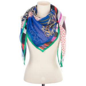 Codello Neo Baroque Vertical Path Scarf - Royal Blue