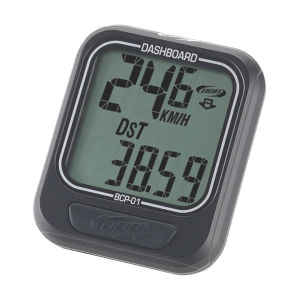 BBB Dashboard Cycling Computer - 6 Functions Black