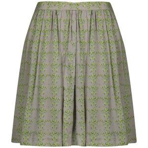 Baum und Pferdgarten Womens Sema Silk Skirt - Grey Crane