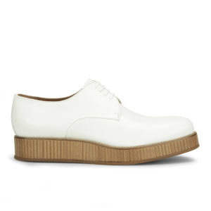 Allsole BOSS Hugo Boss Women's Manela Leather Shoes - White - AllSole