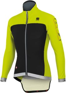 Sportful Fiandre No Rain Jacket - Black/Yellow Fluo