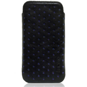 Knomo Blue Perforated Leather iPhone 4 Slim Case