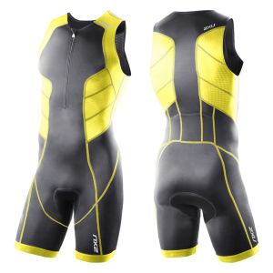 2XU Men's Perform Trisuit - Charcoal/Yellow