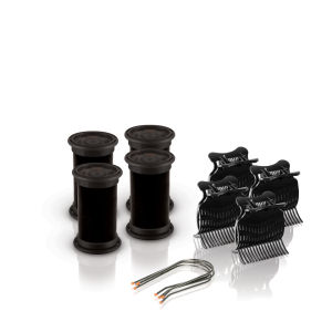 Diva Session Instant Heat 32mm Wickler, Clips & Pins 4er Pack