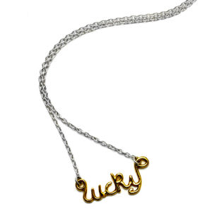 Enelle London Necklace 18ct Gold Plated on Silver Chain LUCKY