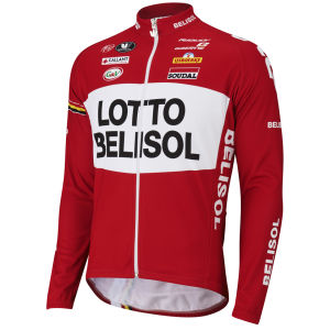 Lotto Belisol Team Long Sleeve Jersey - Red - 2014