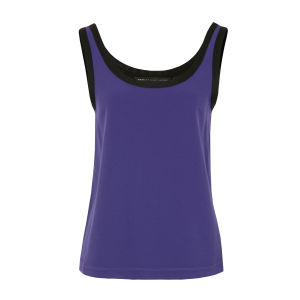 Marc by Marc Jacobs Women's 214 Elena Bloom Crepe Tank Vest - Violet