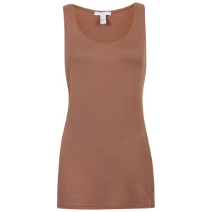 Chloe Women's Stitch Detail Vest Top - Brown