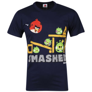 Angry Birds Men's Smashed T-Shirt - Navy