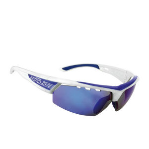 Salice 005 RWB Sports Sunglasses - White-Blue/Mirror