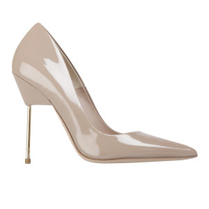 Kurt Geiger Women's Britton Stiletto Heeled Patent Leather Court Shoes - Nude