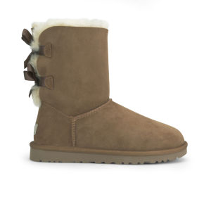 UGG Women's Bailey Bow Sheepskin Boots - Chestnut