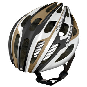 Carrera Pistard 2014 Road Helmet with Rear Light - Matt White/Iron