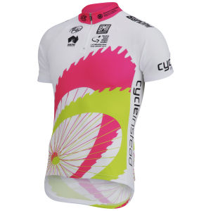 Santini Tour Down Under Young Leader 2014 Short Sleeve Jersey - White